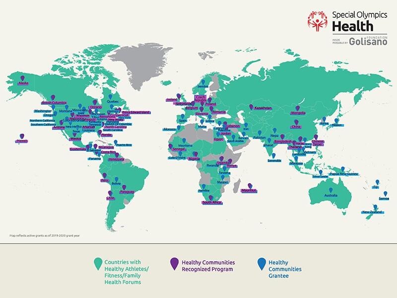 Healthy Communities map