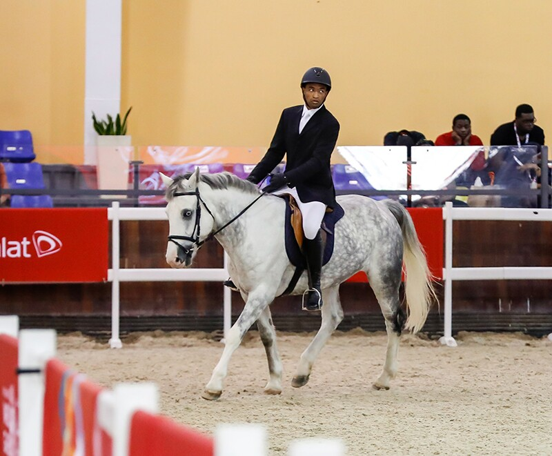 Spencer Roberson on his horse during the competition.