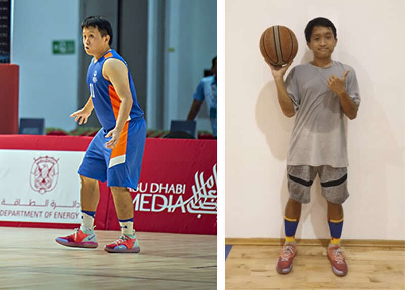 Tan Yee Shu before weight loss (L) and after weight loss (R).