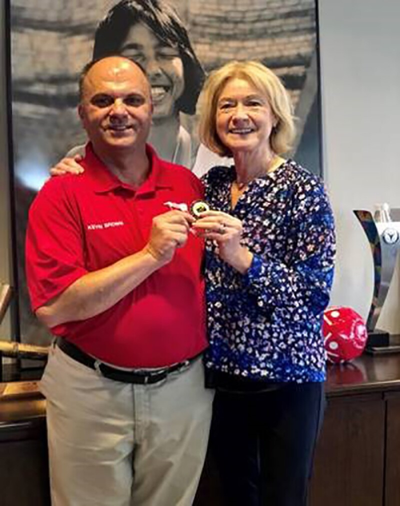 Kevin Brown with Mary Davis, Chief Executive Officer of Special Olympics.