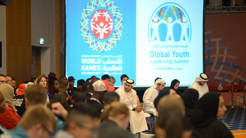 Youth (and non youth) leaders from around the world gathered in a room.