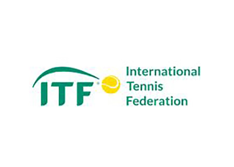 Green and yellow International Tennis Federation logo