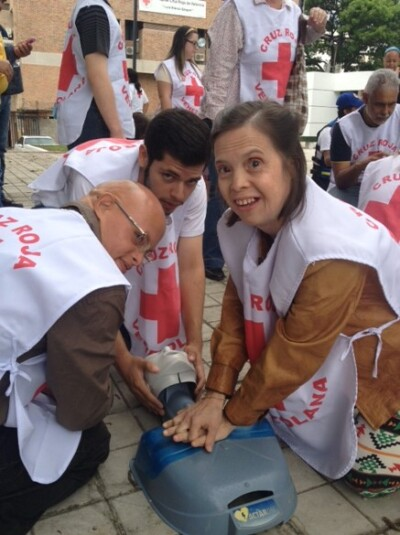 Special Olympics athletes in Venezuela participated in an inclusive first aid training facilitated by their local Red Cross national society as part of the global collaboration aimed at building more inclusive practices.