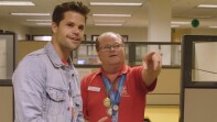 Max Carver tours Special Olympics Southern California offices.