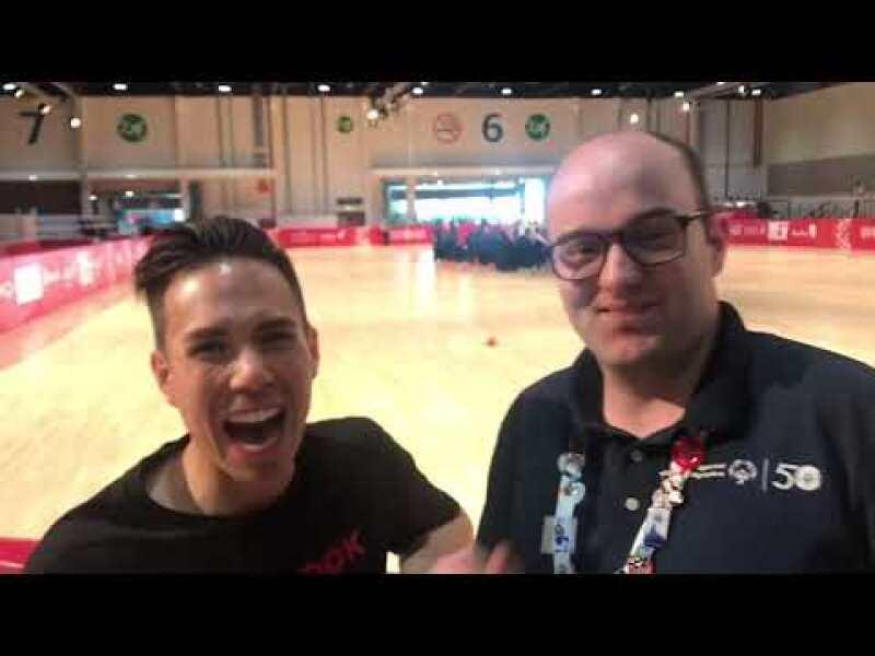 Daniel Smrokowski and Apollo Anton Ohno