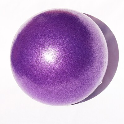 Purple inflatable yoga ball