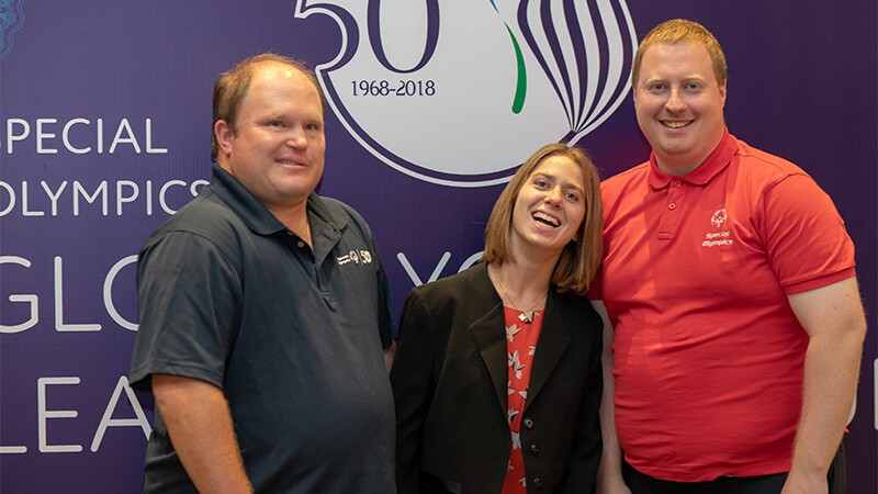 (L-R): Ben Haack, Lucy Meyer and Ian Harper: Athlete leaders will make up a key part of the Special Olympics Global Youth Leadership Forum. They function as spokespersons between the Special Olympic athletes and the outside world.
