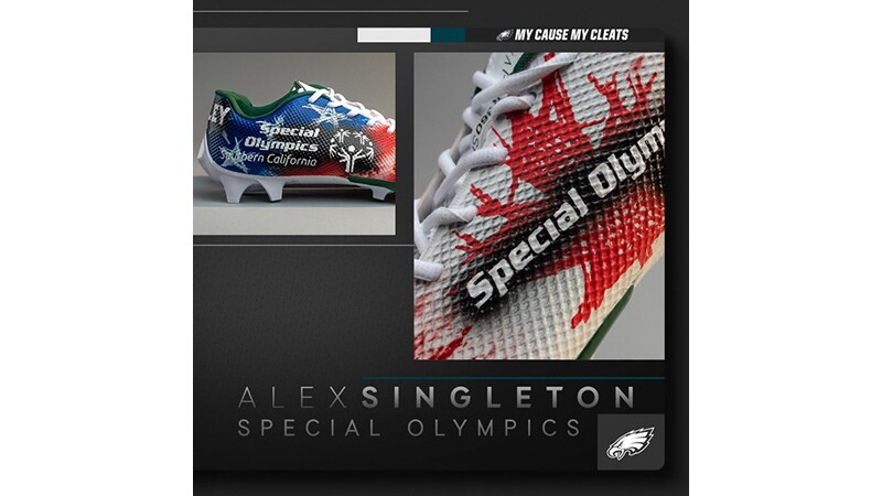 Alex Singleton Special Olympics Southern California shoes.