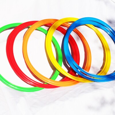 multi colored large rings.