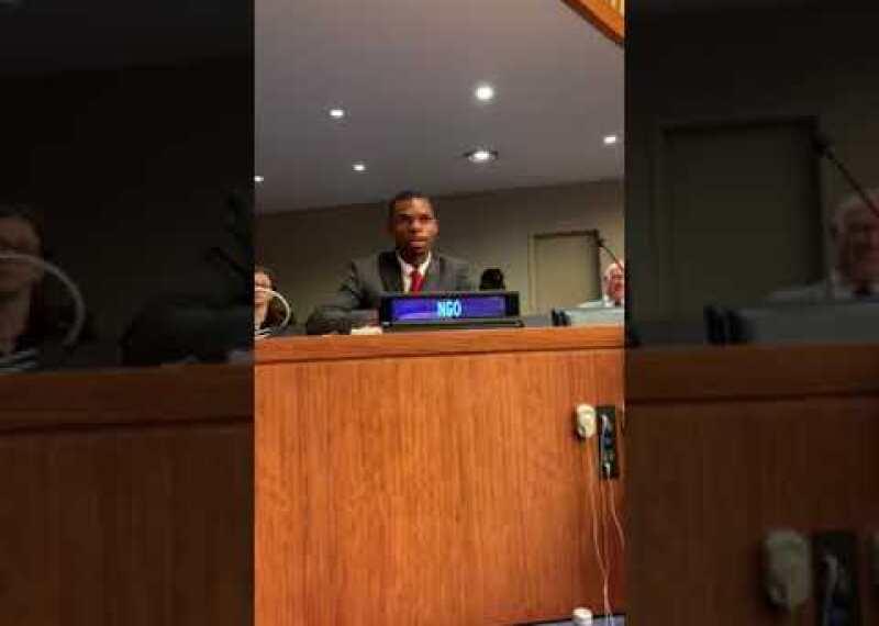 Nyasha Derera at the United Nations
