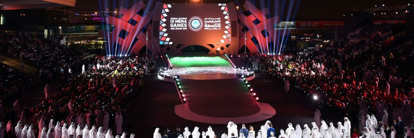Opening Ceremonies at the World Games Abu Dhabi 2019.