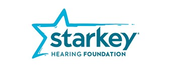 Starkey Hearing Foundation Logo in blue.