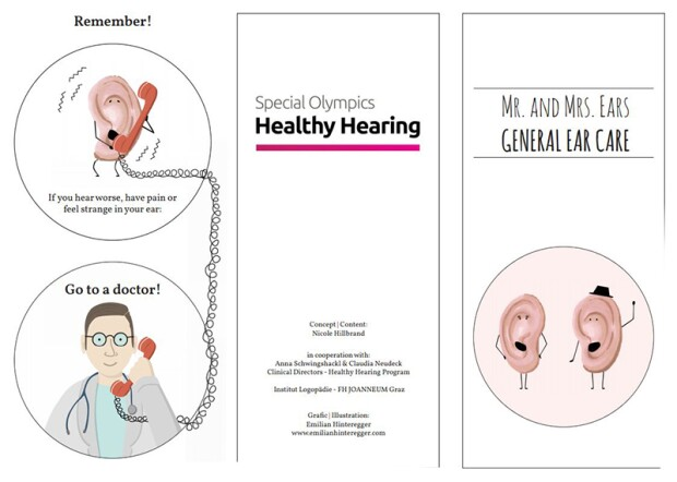 Illustration of the healthy hearing A4 folder.