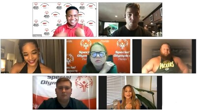 WWE Superstars and Special Olympics Health Messenger's participated in a virtual SnackDown on Zoom.
