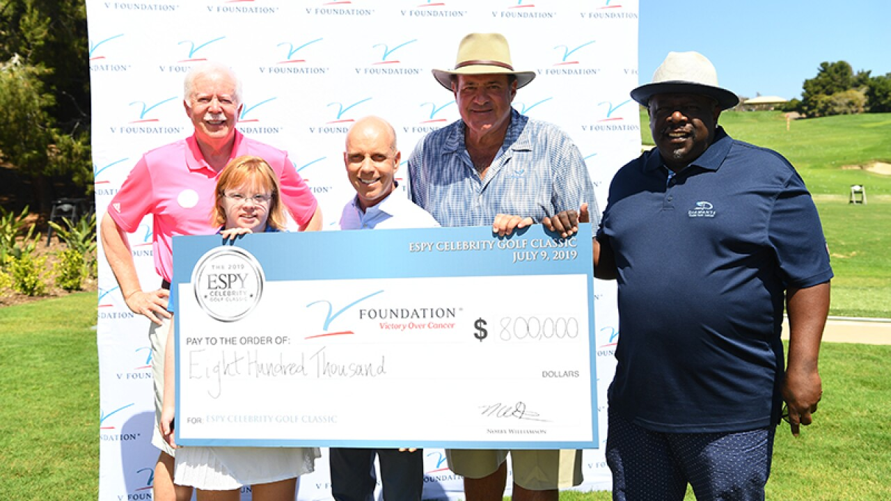 The Jimmy V Foundation honor Amy after here performance in the ESPY Golf Classic.