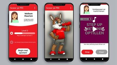 Screen shots of the Scoor je PR! app.