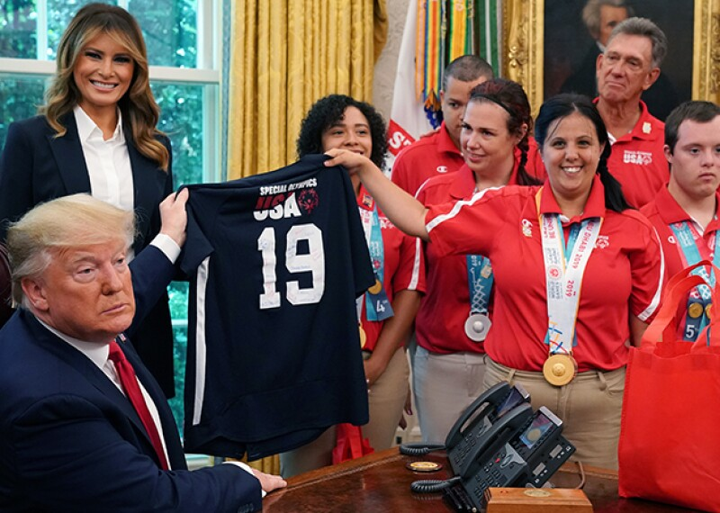 U.S. President Trump Hosts Special Olympics USA's World Games Team At White House