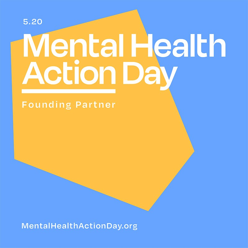 Mental Health Action Day logo.