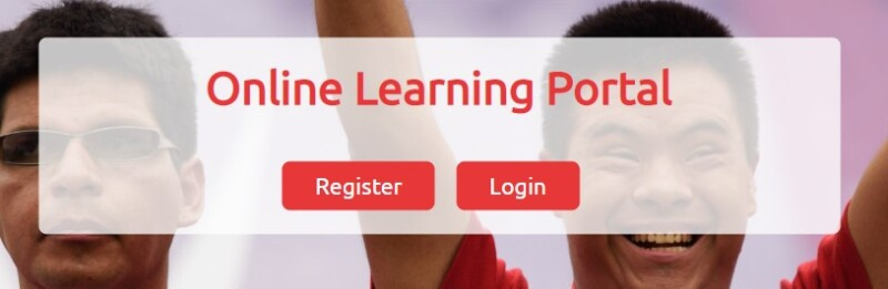 Online Learning Portal with registration and login button