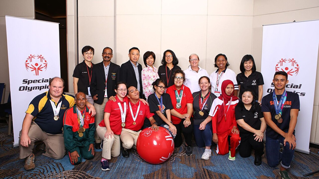 Asia Pacific (ball in front): In 2018, Special Olympics Asia Pacific hosted their first ever unified input council for athlete and youth leaders from across the region.