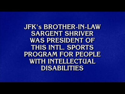 Special Olympics Clue on Jeopardy!