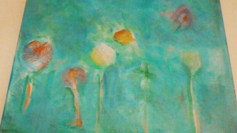 Lani De Mello Painting Flowers.