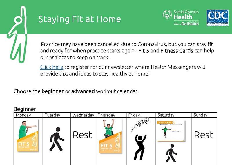 Fitness card illustration