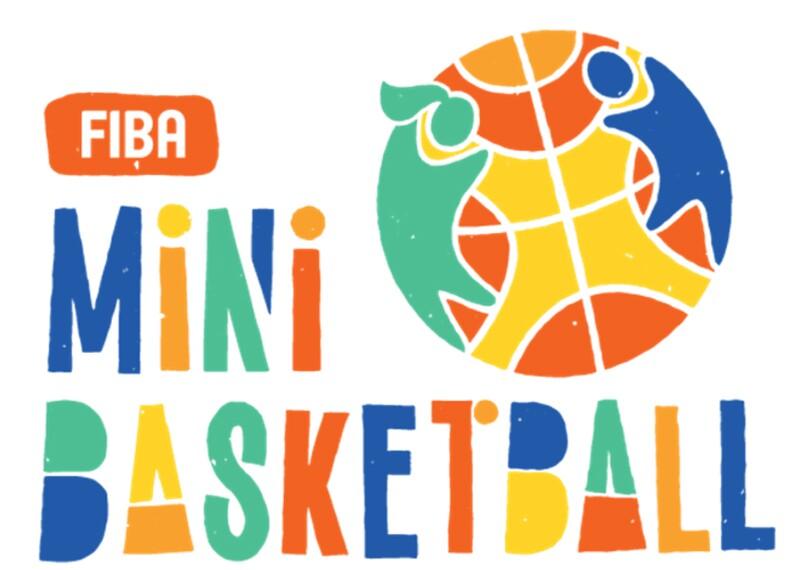 multi-colored FIBA mini basketball logo
