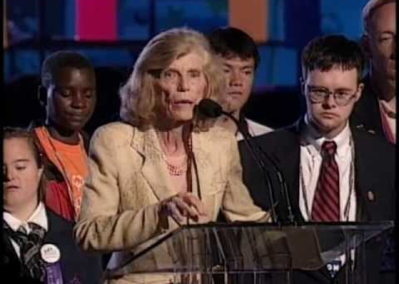 Eunice Kennedy Shriver: 'The Healing Power of the Human Spirit' at the Special Olympics World Games