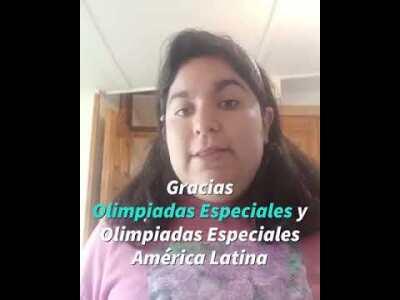 """Mensaje de Rocío Ochoa, ganadora del Concurso de Arte """"El Poder del Deporte Inclusivo"""""""
