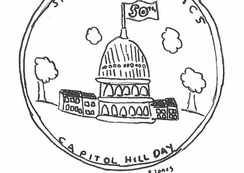 Illustration of the Capitol Hill day logo