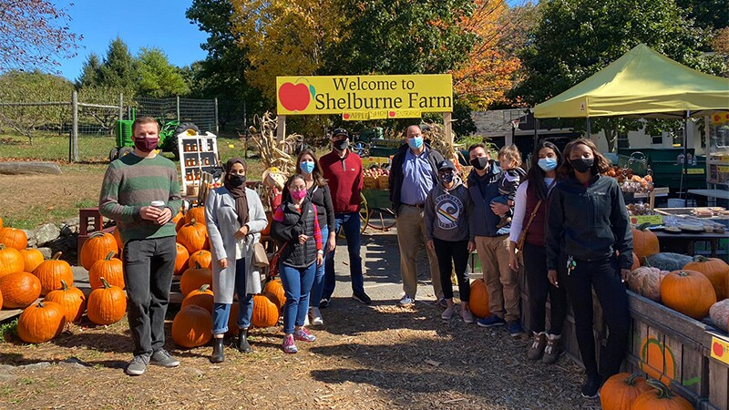 Melissa and the staff of Senator Eldridge spent the day apple picking as a team-bonding activity.