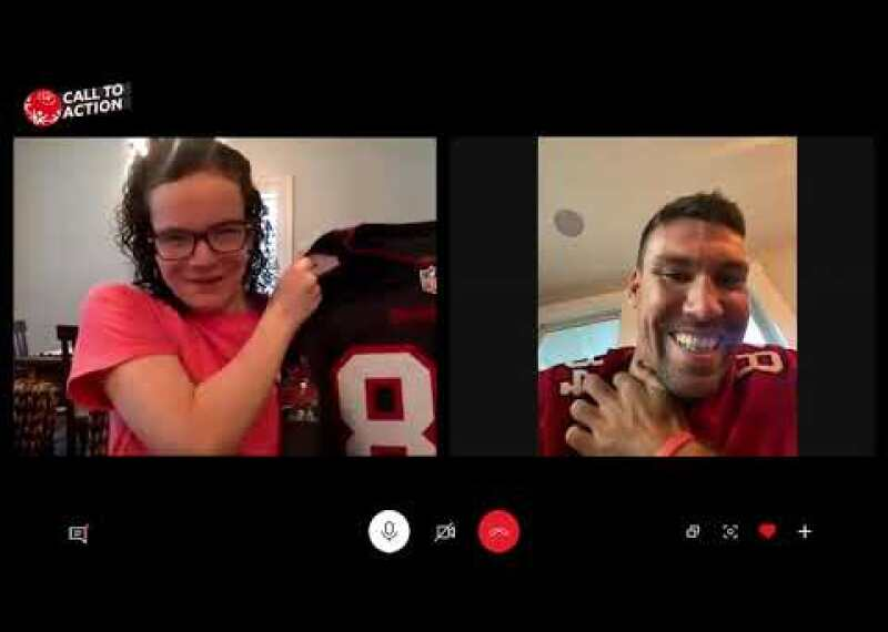 Tampa Bay Buccaneers' Cameron Brate Surprises Special Olympics Athlete with a Special Gift