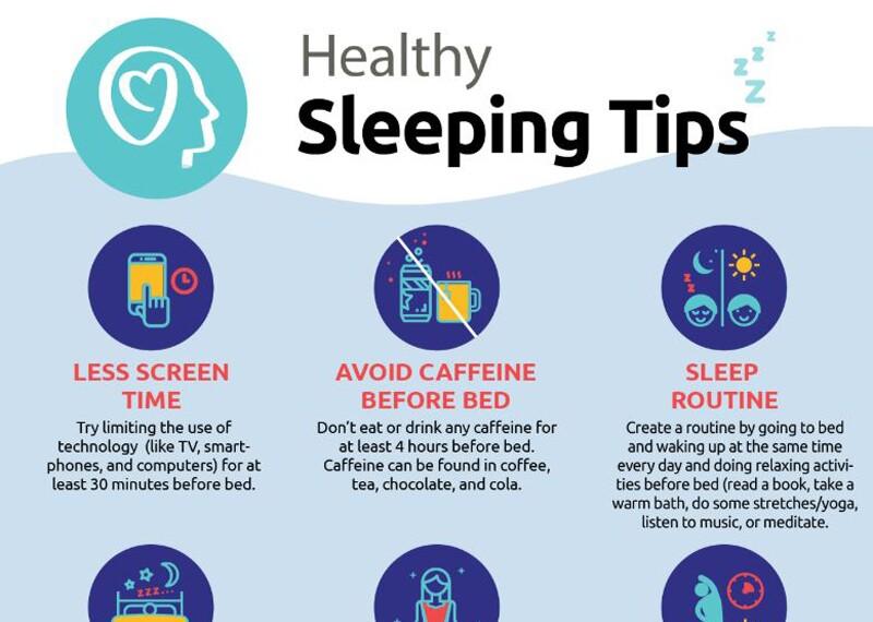 Healthy sleep tips guide.