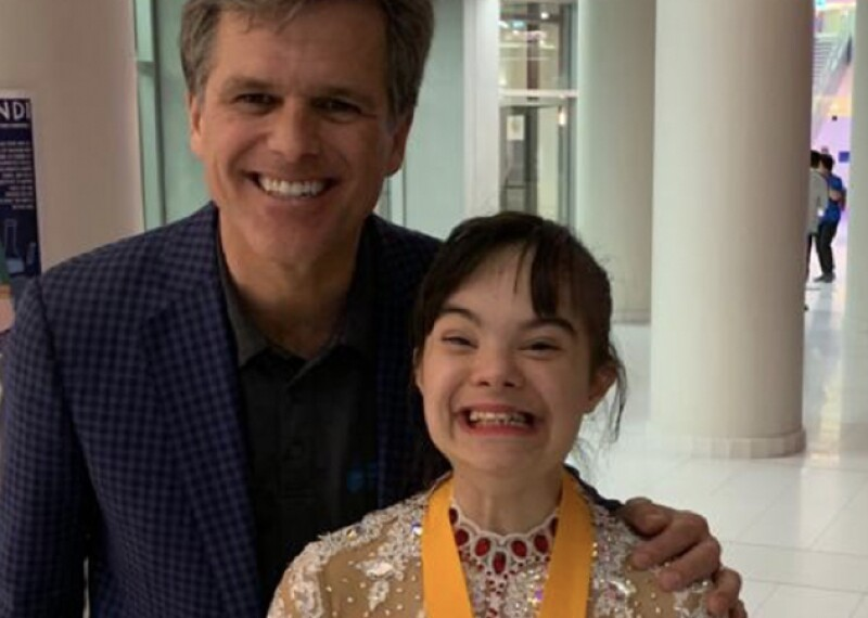 Alia and Tim Shriver pose for a photo together.