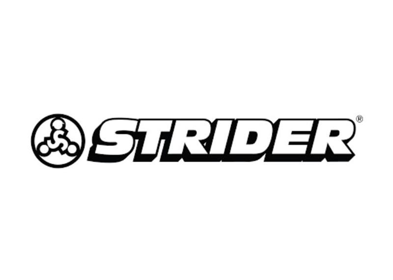 Black and white Strider logo