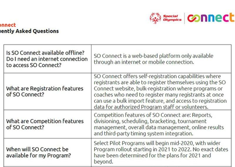 image of the FAQ sheet