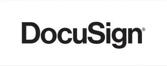 DocuSign logo in black