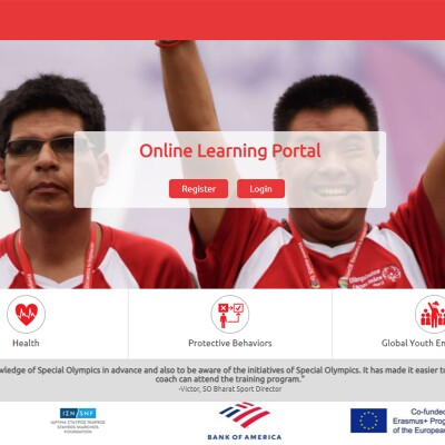 Screenshot of Special Olympics online learning portal.
