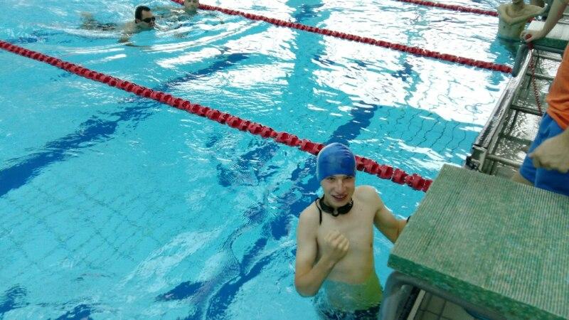 Njegoš Mihajlović at an Open Swimming Competition in Belgrade.