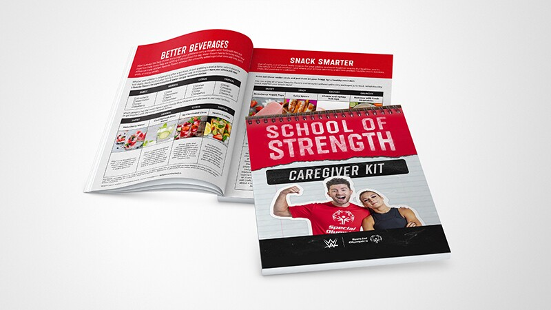 Photo of the School of Strength Caregiver guide kit.