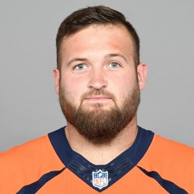 Dalton Risner Denver Bronco's team photo.