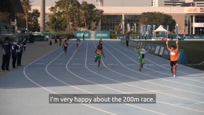 Khadija After the 200m run