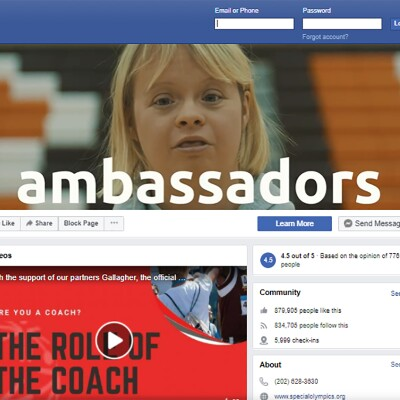 Screenshot of Ambassadors Facebook page.