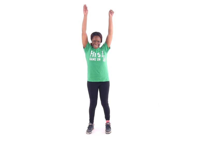 Athlete demonstrating arm circles.