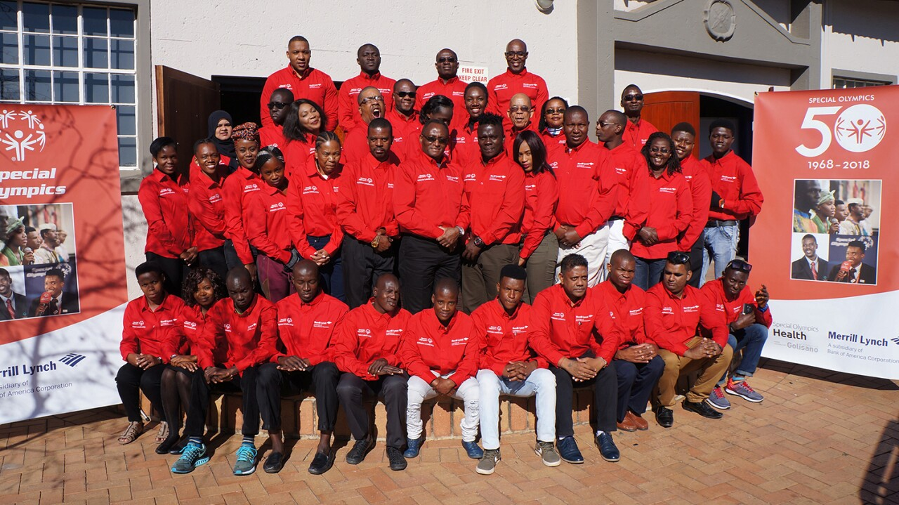 2018 Special Olympics Africa Regional Congress. Leaders from 20 countries met in Johannesburg to develop their leadership skills and become Special Olympics Health Messengers.