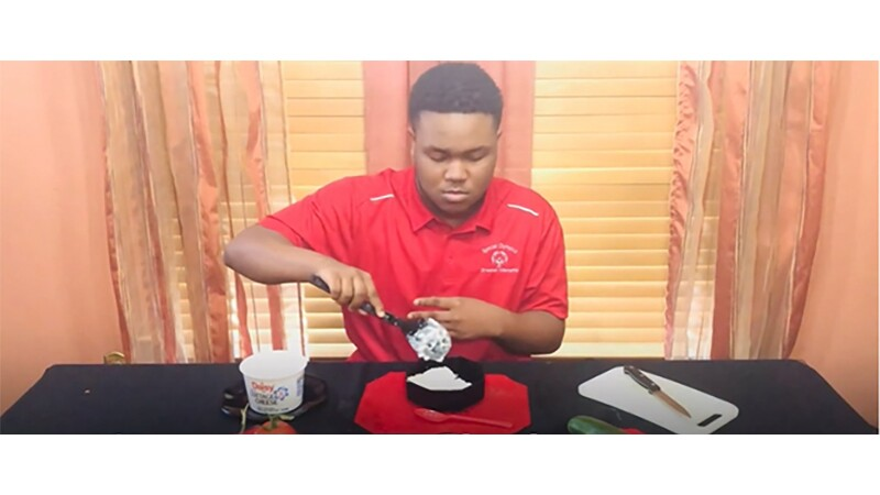 Eric demonstrates how to make a savory snack.