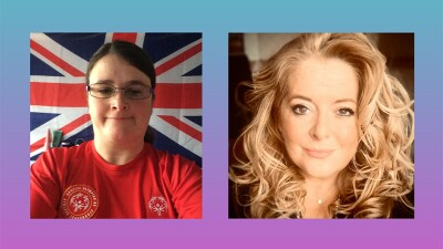 Katie Day Special Olympics Great Britain athlete leader and Michelle Carney, Special Olympics Great Britain C.E.O.