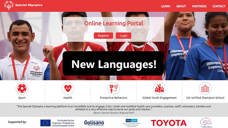 Screenshot of the Online Learning Ports homepage.