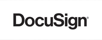 DocuSign logo in black